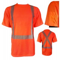Safety t-shirt made with soft 100% polyester  fabric